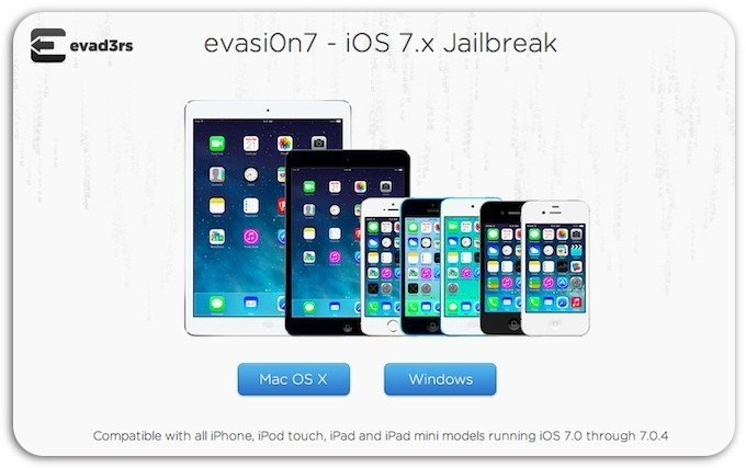 Вышел джейлбрейк для iOS 7