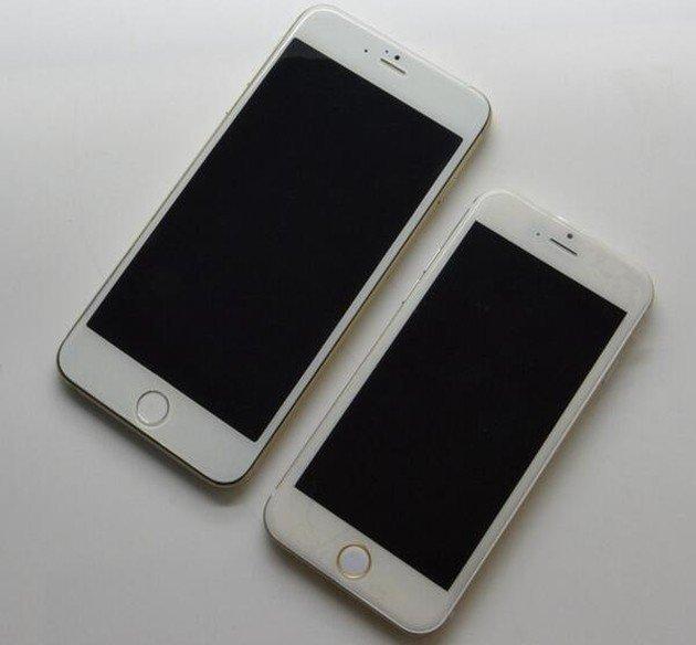 Снимки новых iPhone 6,разных диагоналей - бок о бок!