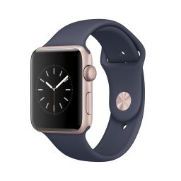 Часы Apple Watch Series 2 42mm Rose Gold Aluminum Case with Midnight Blue Sport Band купить в Уфе