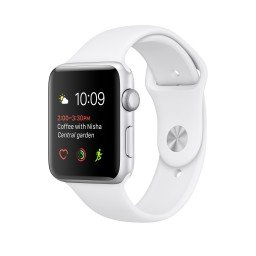 Часы Apple Watch Series 1 42mm Silver Aluminum Case with White Sport Band купить в Уфе