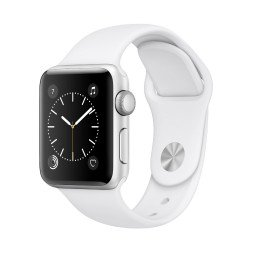 Часы Apple Watch Series 2 38mm Silver Aluminum Case with White Sport Band купить в Уфе
