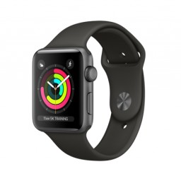 Часы Apple Watch Series 3 42mm Space Gray Aluminum Case with Gray Sport Band купить в Уфе