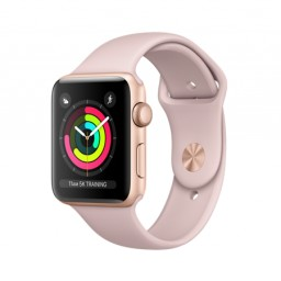Часы Apple Watch Series 3 42mm Gold Aluminum Case with Pink Sand Sport Band купить в Уфе