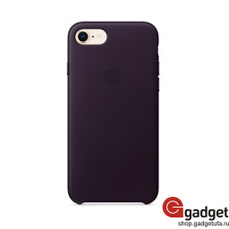 Чехол Apple Leather Case для iPhone 7/8 Dark Aubergine купить в Уфе