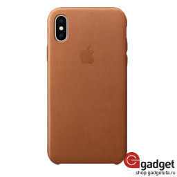Чехол Apple Leather Case для IPhone X/Xs Saddle Brown купить в Уфе