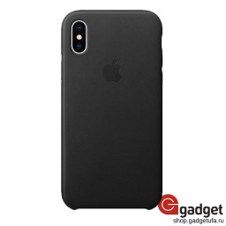 Чехол Apple Leather Case для iPhone X/Xs Black купить в Уфе