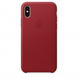 Чехол Apple Leather Case для iPhone X/Xs (PRODUCT)RED купить в Уфе
