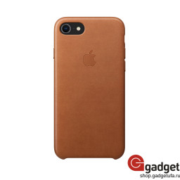Чехол Apple Leather Case для IPhone 7/8 Saddle Brown купить в Уфе