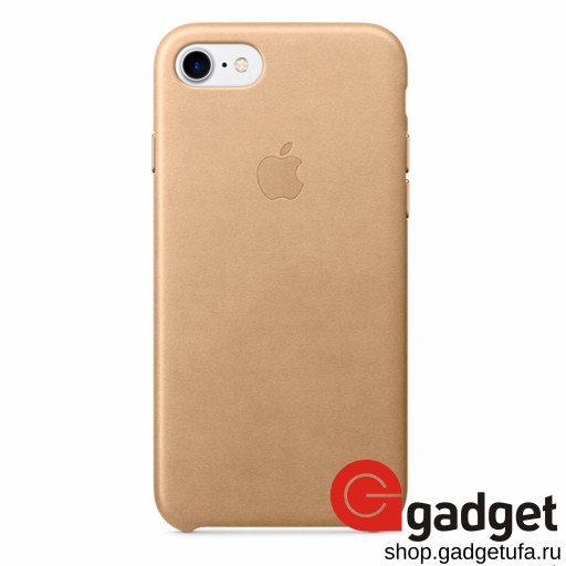 Чехол Apple Leather Case для IPhone 7/8 Tan