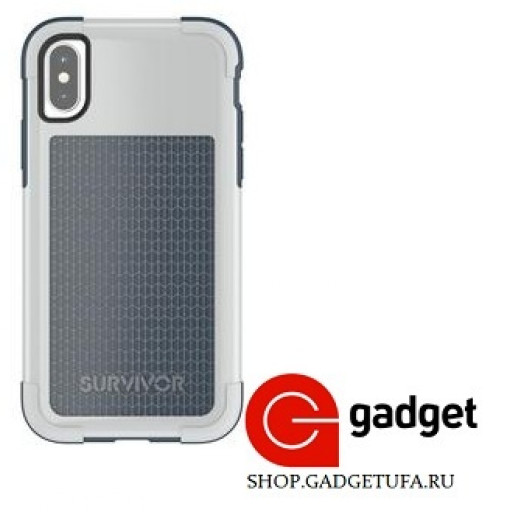 Накладка Griffin Survivor Fit для iPhone X/Xs силиконовая серая
