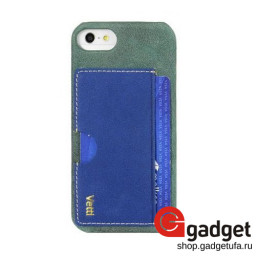 Накладка Vetti Craft для iPhone 5/5s Prestige Card Holder Black/Vintage Shine Blue купить в Уфе