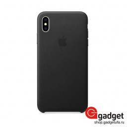 Чехол Apple Leather Case для iPhone XS Max Black купить в Уфе