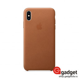 Чехол Apple Leather Case для IPhone XS Max Saddle Brown купить в Уфе