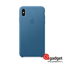Чехол Apple Leather Case для IPhone XS Max Midnight Blue купить в Уфе