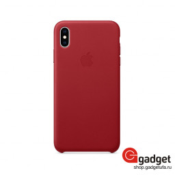 Чехол Apple Leather Case для iPhone Xs Max (PRODUCT)RED купить в Уфе