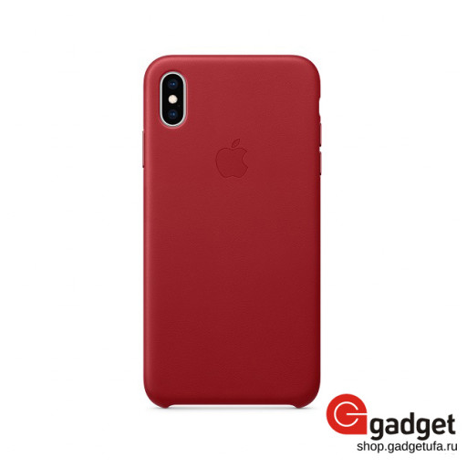 Чехол Apple Leather Case для iPhone Xs Max (PRODUCT)RED