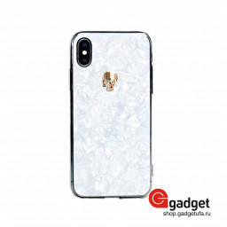 Накладка Bling My Thing для iPhone X/Xs с кристаллами Swarovski Treasure Gold Skull купить в Уфе
