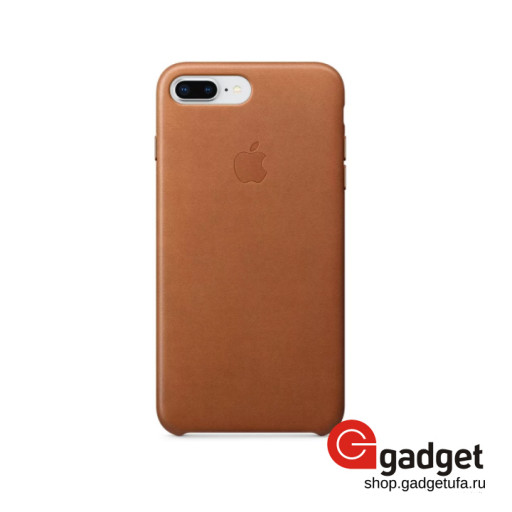 Чехол Apple Leather Case для iPhone 7/8 Plus Saddle Brown