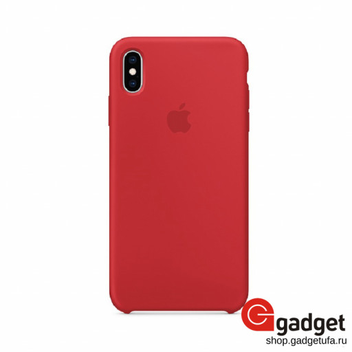 Накладка Apple silicone case для iPhone XS Max красная