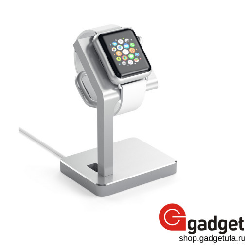 Док-станция для Apple Watch Satechi Aluminum Apple Watch Charging Stand - серебристая