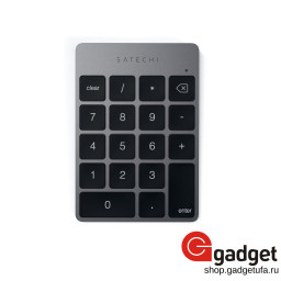 Клавиатура Satechi Aluminum Slim Rechargeable Bluetooth Keypad - темно-серая купить в Уфе