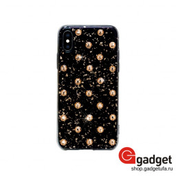 Накладка Bling My Thing для iPhone X/XS с кристаллами Swarovski Extravaganza Polka Dots Gold купить в Уфе