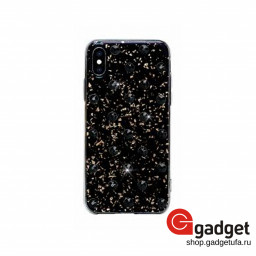 Накладка Bling My Thing для iPhone X/XS с кристаллами Swarovski Extravaganza Polka Dots Jet купить в Уфе