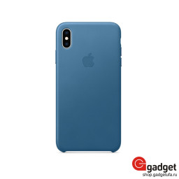 Чехол Apple Leather Case для IPhone XS Max Cape Cod Blue купить в Уфе