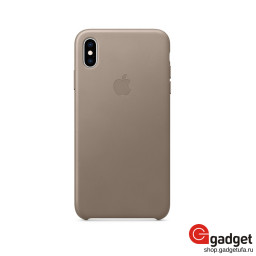 Чехол Apple Leather Case для iPhone XS Max Taupe купить в Уфе