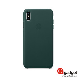 Чехол Apple Leather Case для IPhone XS Max Forest Green купить в Уфе