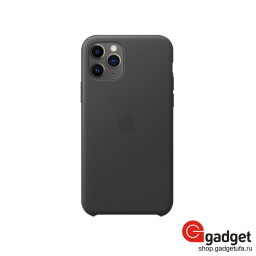 Чехол Apple Leather Case для IPhone 11 Pro Black купить в Уфе