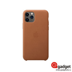 Чехол Apple Leather Case для IPhone 11 Pro Max Saddle Brown купить в Уфе