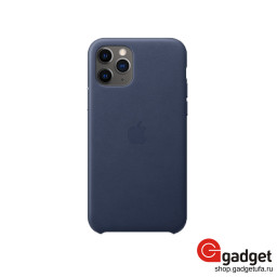 Чехол Apple Leather Case для IPhone 11 Pro Midnight Blue купить в Уфе