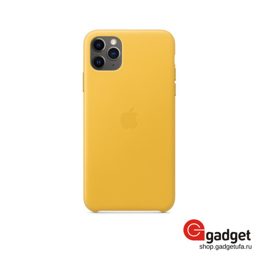 Чехол Apple Leather Case для IPhone 11 Pro Max Meyer Lemon