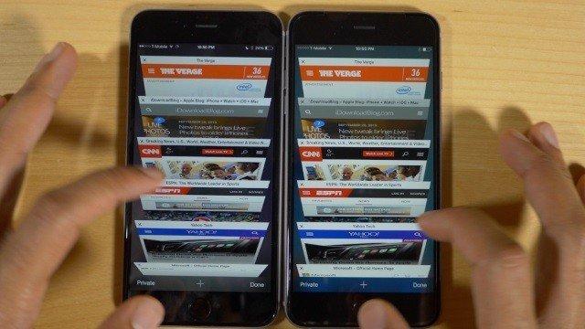2 ГБ оперативной памяти iPhone 6s значительно ускоряют загрузку страниц в Safari