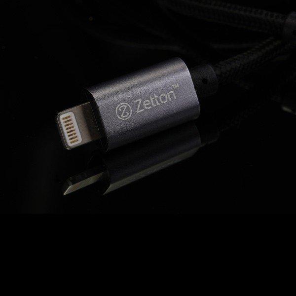 Одни из самых прочных и выносливых lightning кабелей от компании Zetton