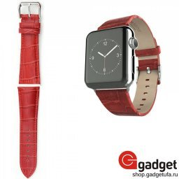 Ремешок HOCO для Apple Watch 42/44mm Art Series Bamboo Real Leather Watchband Red купить в Уфе